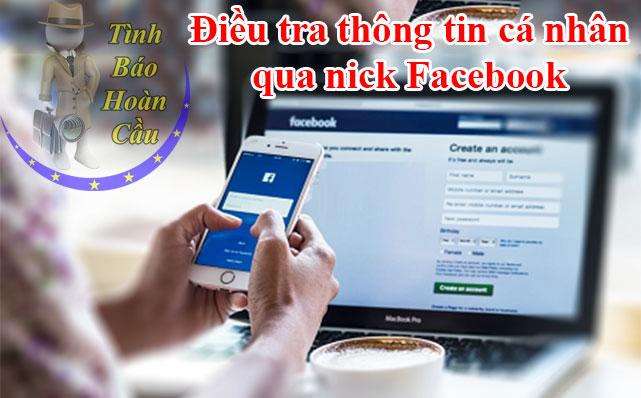 Điều tra thông tin cá nhân qua nick Facebook