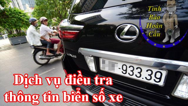 Dịch vụ thám tử Sài Gòn điều tra biển số xe máy, oto