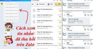 Cách xem tin nhắn đã thu hồi trên Zalo Messenger Viber