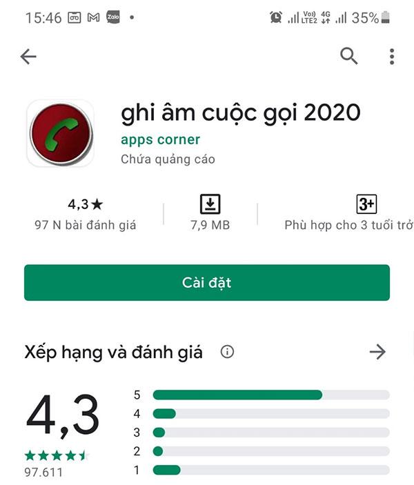 Phần mềm ghi âm cuộc gọi 2020 (Apps Corner) miễn phí cho Android