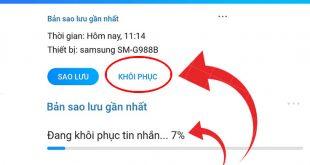 Cách khôi phục tin nhắn Zalo đã xóa trên điện thoại iPhone, Android