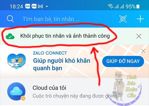 Cách khôi phục tin nhắn Zalo trên iPhone, Android