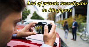 List of private investigator in Singapore
