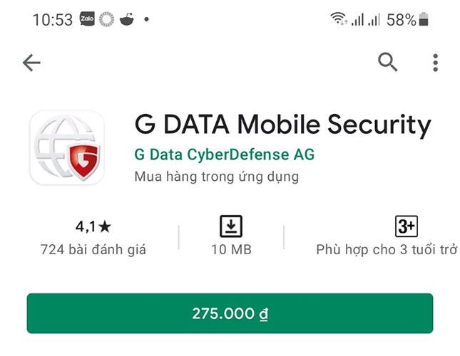 Tải phần mềm diệt virus G DATA cho điện thoại Android