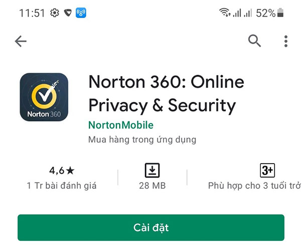 Tải ứng dụng Norton 360: Online Privacy & Security diệt virus cho điện thoại Android
